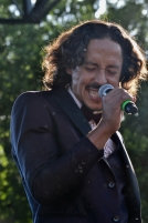 Bardo Martinez of Chicano Batman performs at Fortress Festival in Fort Worth, April 28, 2018.