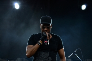 RZA performs with Stone Mecca at Fortress Festival in Fort Worth, April 28, 2018.