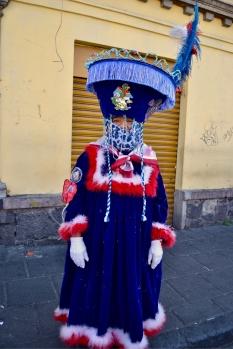 A Chinelo dancer in Xochimilco, Feb. 2, 2019.