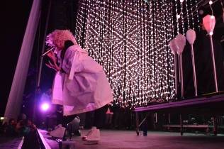 Purity Ring performs April 30, 2017 at Fortress Festival in Fort Worth.