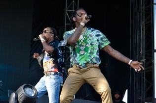 Migos perform at JMBLYA in Dallas May 6, 2017.